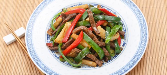 中華の定番にも 青椒肉絲