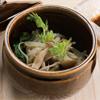 壺蒸し野菜(三陸まるっとわかめドレッシング ノンオイル)
